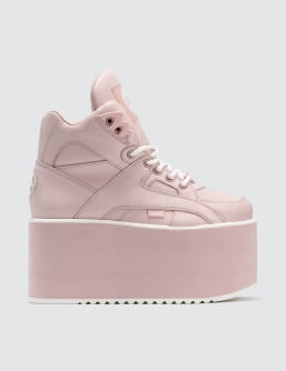 Buffalo London Buffalo Baby Pink High Tower Platform Sneakers