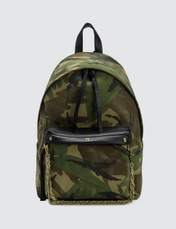 Faith Connexion Camo Chain Detail Backpack