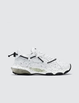 Valentino Black White Paint Spray Contrast Runway Sneaker