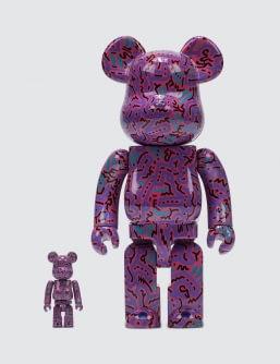 Medicom Toy Keith Haring Bearbrick 100% + 400% Set (ver. 2)