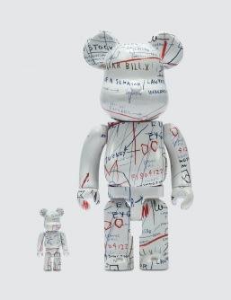 Medicom Toy Jean-Michel Basquiat Bearbrick 100% + 400% Set (ver. 2)