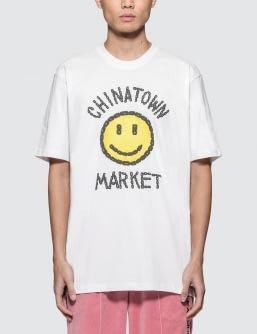 Chinatown Market Smiley Logo Chain T-Shirt