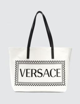 Versace Canvas  Logo Tote Bag