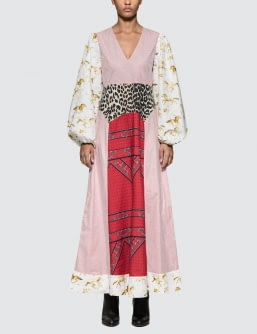 Ganni Sweeny Patchwork Dress