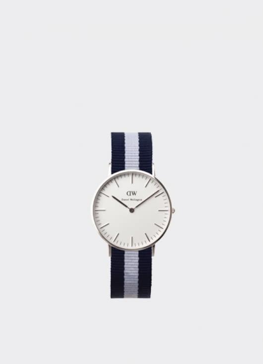 Daniel Wellington Classic Glasgow Silver Ladies' Watch