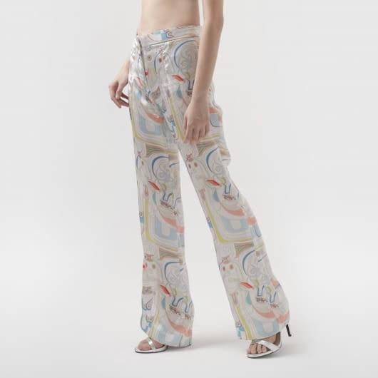 Patrick Owen Maharati Silk Relaxed Pants