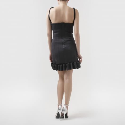 Patrick Owen Textured Neoprene Ruffle Skirt