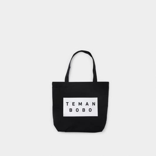 Teman Bobo Teman Bobo Black Logo Tote Bag