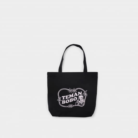 Teman Bobo Teman Bobo Black Illustrated Tote Bag