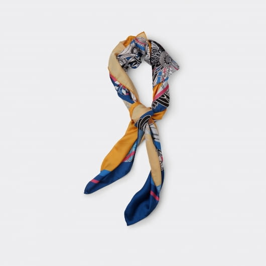 Patrick Owen Ronwe Yellow Silk Scarf