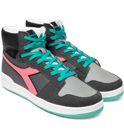 DIADORA Castle Rock/ Cayenne Red Basket 80 Act Shoes
