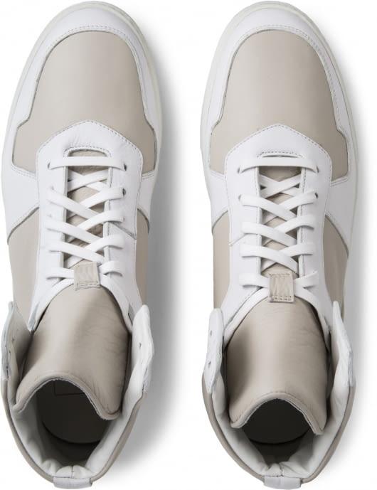 FACTO White Neptune Lamb Calf High Top Sneakers