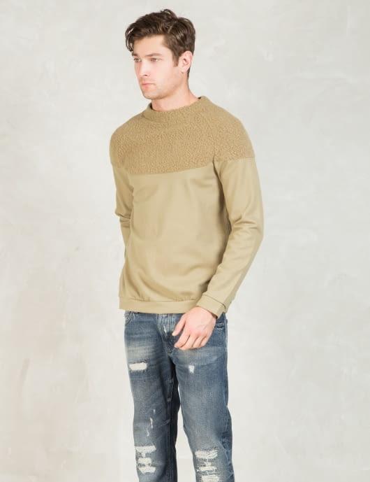 Discovered Beige L/S Boa York Sweatshirt