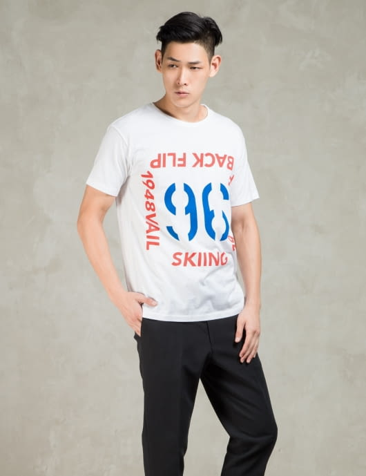 N.Hoolywood White S/S Number 96 T-Shirt