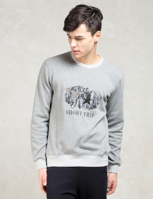 FACTOTUM Grey L/S Short Trip Sweatshirt