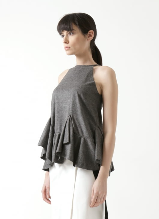 Day and Night Grey Clovery Top