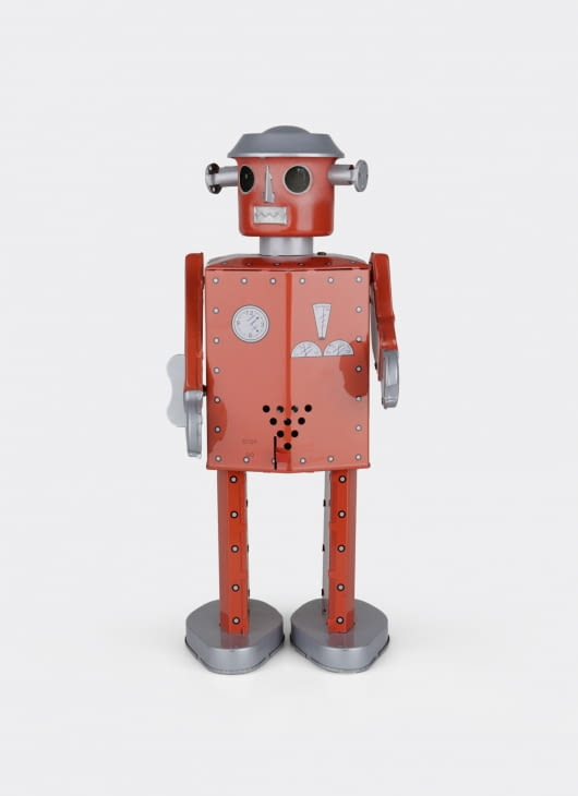 The Tin Industry Giant Atomic Robot Red