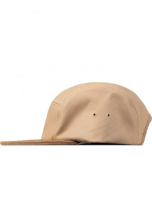 Hender Scheme Natural Jet Cap Natural Tanning Cow Leather