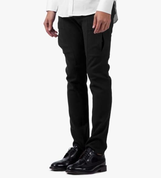 Munsoo Kwon Black Brushed Span Cargo Pants