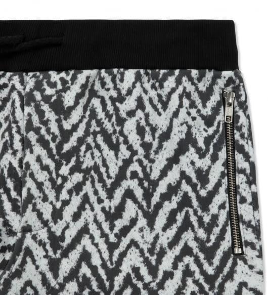 KRISVANASSCHE Black Fleece Elastic Waistband Sweatpants