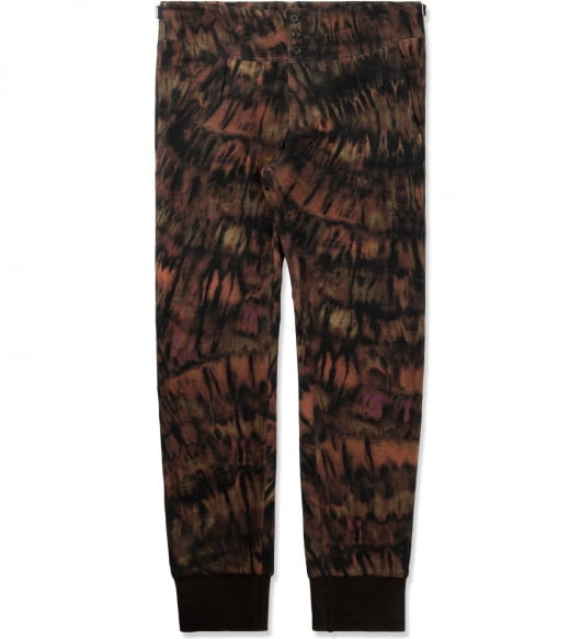 Paul Smith Tie-dye Print Wool-Blend Cuffed Trousers