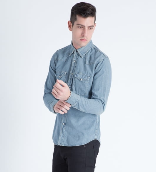 Spellbound Light Indigo Denim Western Shirt