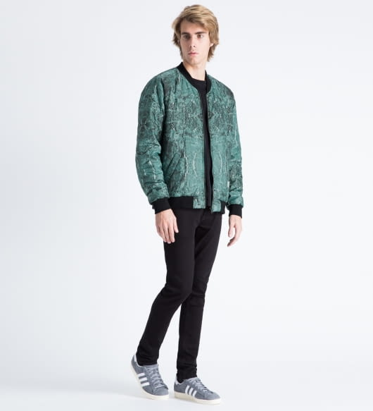 A Question Of Green/Black Marble Reversible Marbleous Bomber Jacket