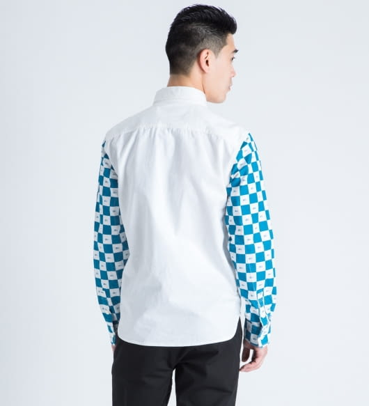 FUCT SSDD White/Blue Checker Flag L/S Shirt