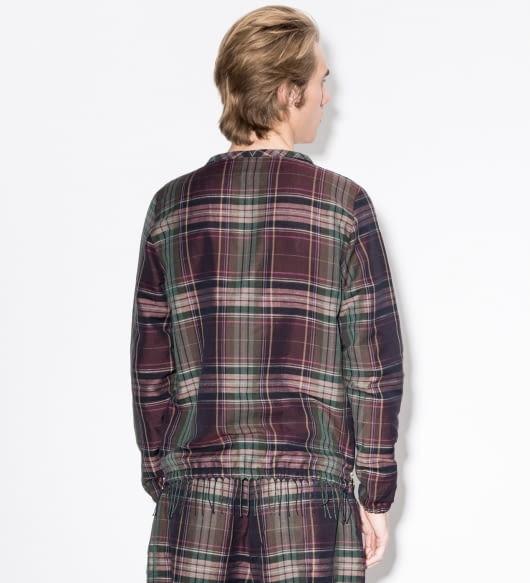 Paul Smith Purple Check Linen-Blend Sweater