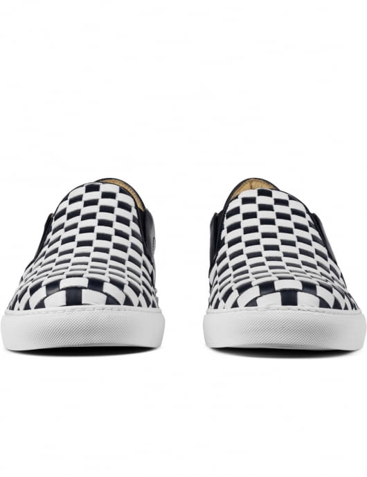 Mr. Hare Navy 2tone Check Loafers