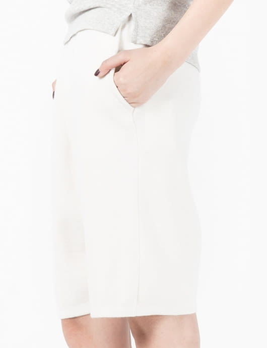 LOW CLASSIC Ivory Basic Knit Pants