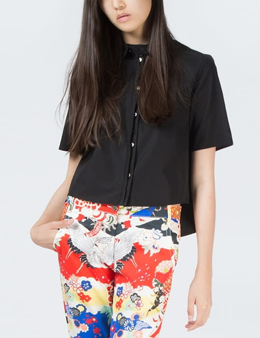 1 by O'2nd Black Eco Patched Shirt