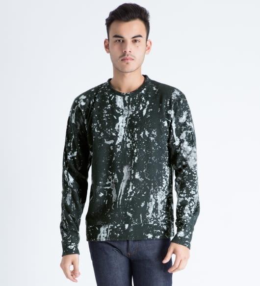 Tourne de Transmission White/Black Soulages Print Sweater