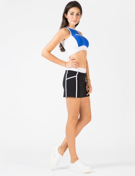 VFILES SPORT PLUS Black Tech Tennis Skirt