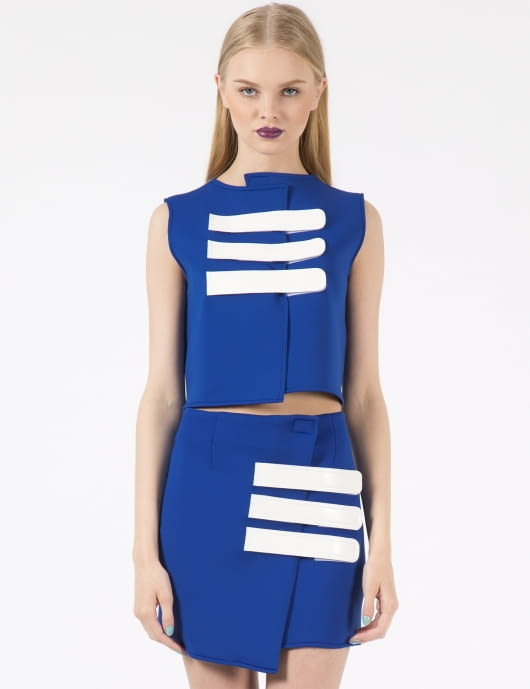 91,2 Blue Velcro Strap Top