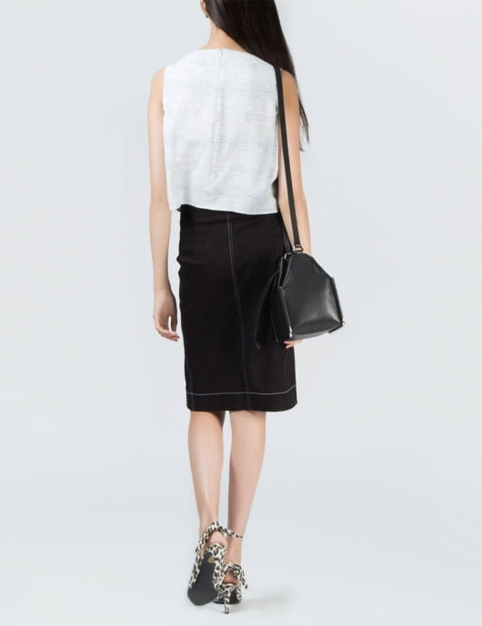 1 by O'2nd Light Grey Bahia PT Cropped Top