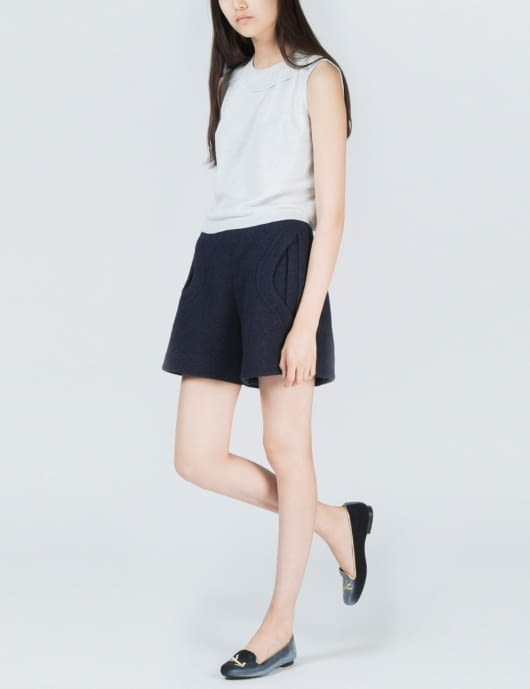 1 by O'2nd Light Grey Empire Stitched Top