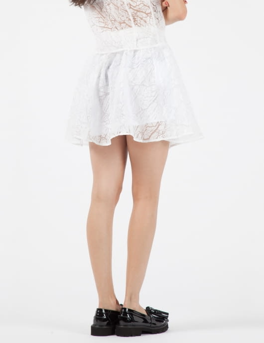 STOLEN GIRLFRIENDS CLUB White Cracked Crystal Mini Skirt