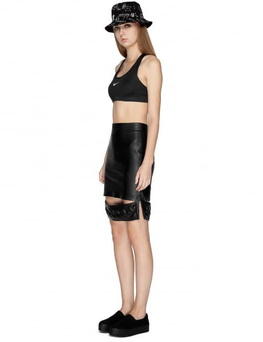 KYE Black Emboss Slach Skirt