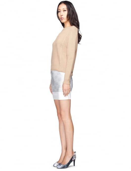 Opening Ceremony Grey Multi Optcl Line Rvs Skirt