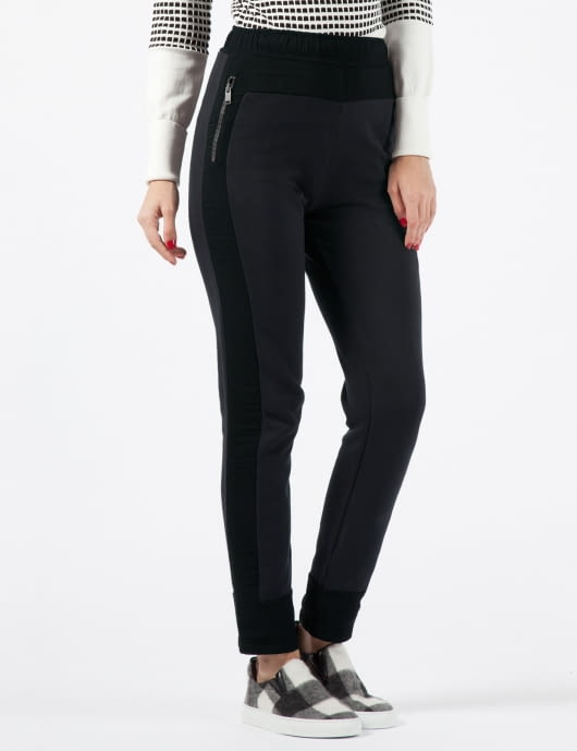 SILENT DAMIR DOMA Black Plutis Sweatpants