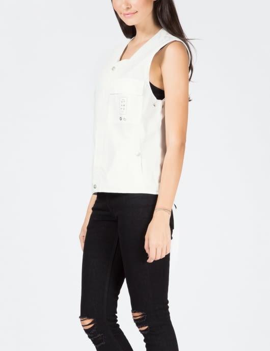 STAMPD White Strap Vest