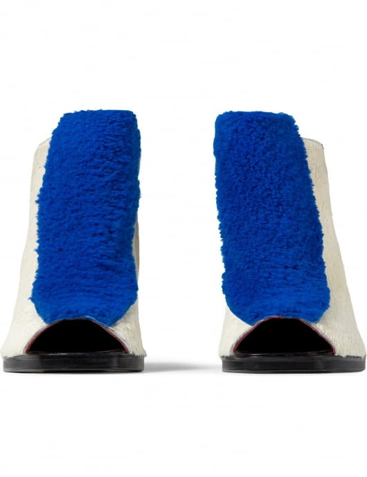 Opening Ceremony Cobalt Multi Elise Open Toe Booties