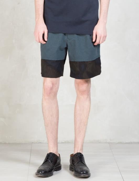 Kolor Camouflage Paneled Shorts