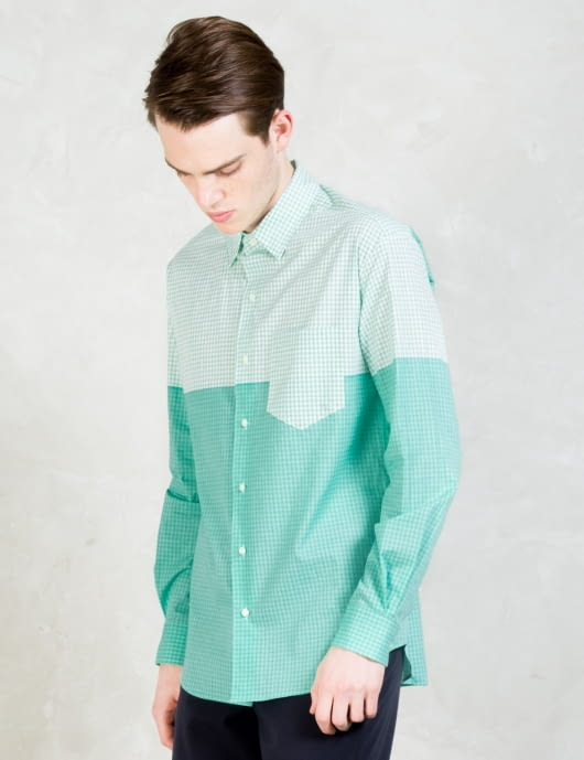 soe Gingham Check L/S Concealed Button Down Winston Shirt