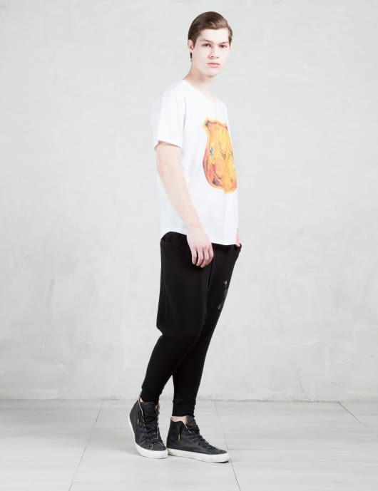 Roen Gold Skull Shield S/S T-Shirt