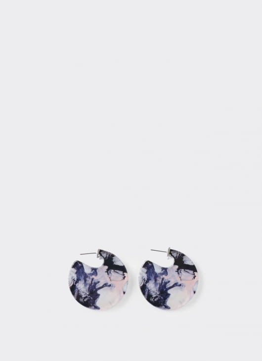 ISTAFADA Circle of Marble Earrings