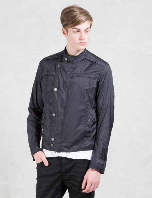 DIESEL BLACK GOLD Jat - Matal Metal Foiled Paprey Nylon Jacket