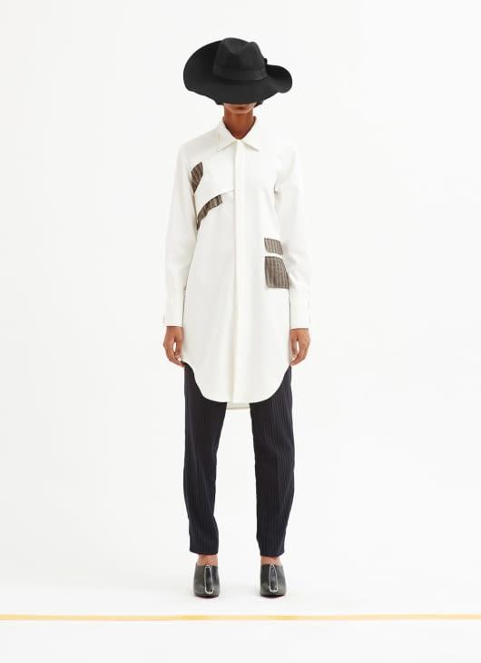Patrick Owen White Deconstructed Shirt Dress