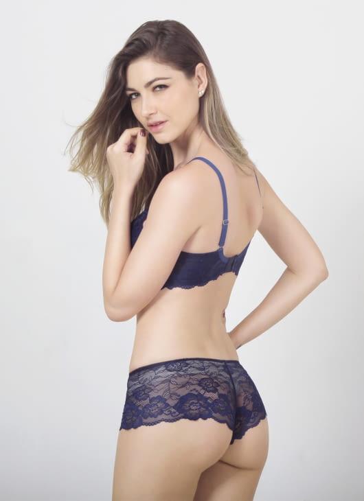 Raquel Lingerie Blue Nadya Hipster Panty